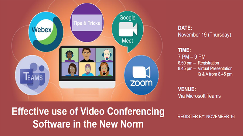 Effective Use of Video Conferencing Software in the New Norm