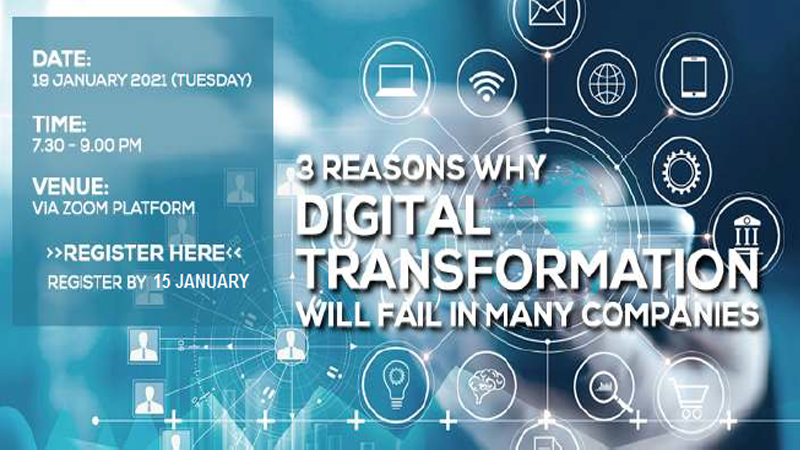 3 Reasons Why Digital Transformation Will Fail In Many Companies